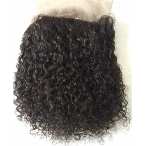 Natural deep curly 360 lace frontal
