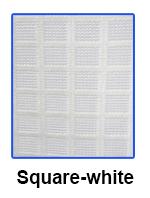 Square Net Fabric White