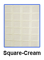 Square Net Fabric cream