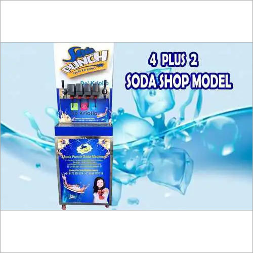 4+2 Valve Soda Fountain Machine