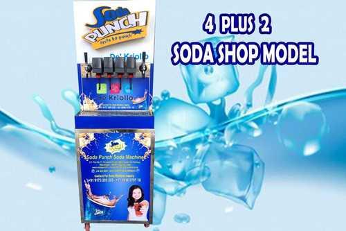 4+2 Valve Soda Fountain Machine