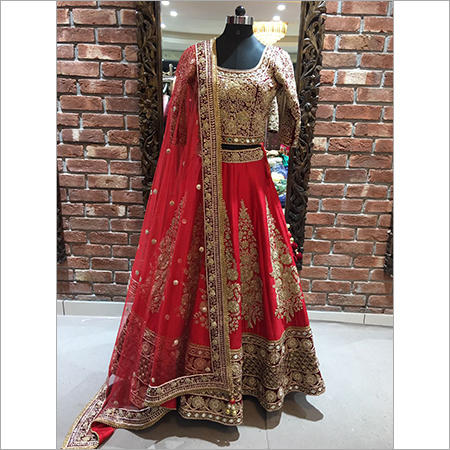 Embroidered Work Bridal Lehengas
