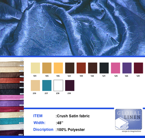 Long crush satin fabric