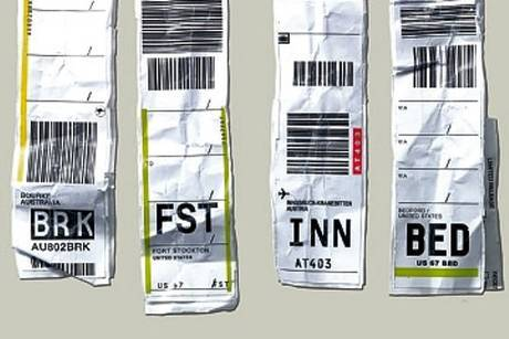 Airline Luggage Label