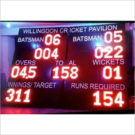 Cricket L.E.D. Score Board ( Red Color )