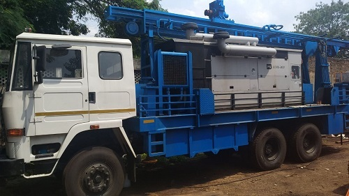 1000 Feet Depth Hydraulic Portable Water Well Drilling Rig