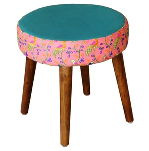 Designer Upholstered Round Stools
