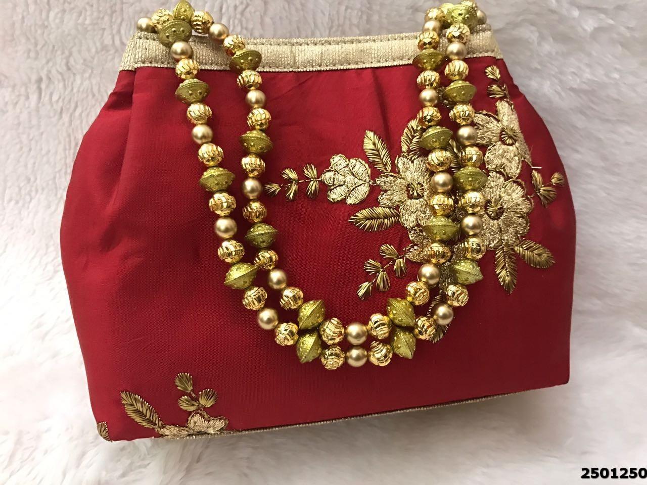 Beautiful Designer Embroidered Potli Bag