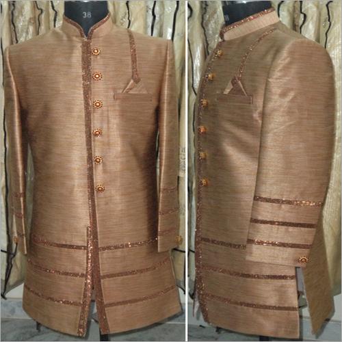 Party Wear Plain Indo Western Sherwani