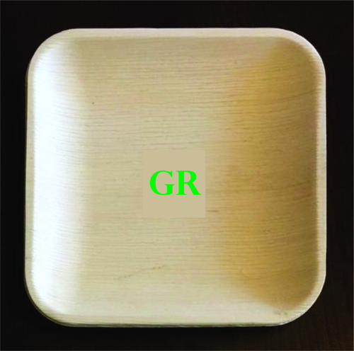 7' Inches Areca Leaf Square Plate