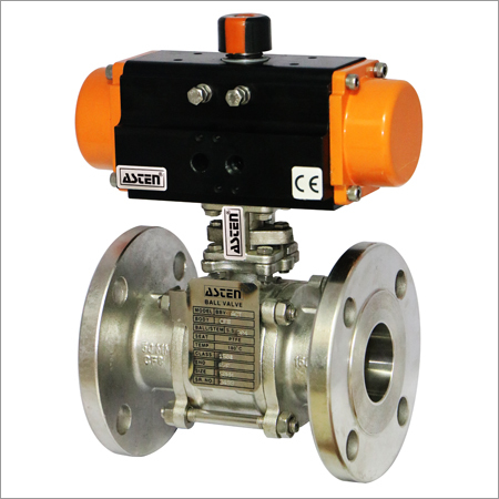Pneumatic 3 Pc 2 Way Ball Valve F/E