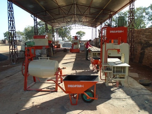 Manual Concrete Pavers Blocks Machinery – Hydraulic Press Type