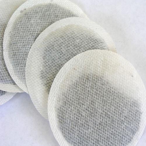 Circular tea bag