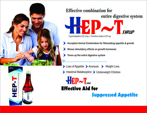 Cyproheptadine HCl Tricholine Citrate Syrup