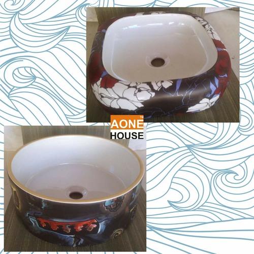 Multi Sticker Design Table Top Wash Basin