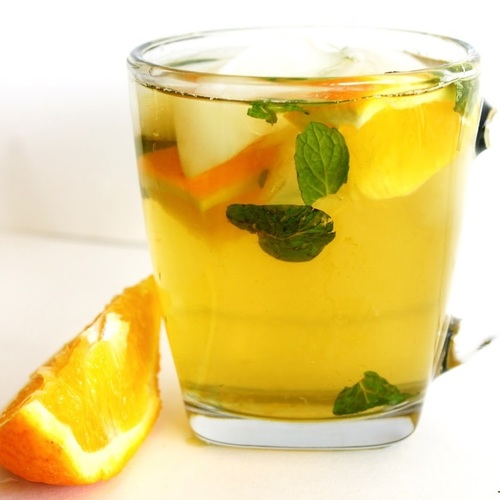 Orange flavored tea