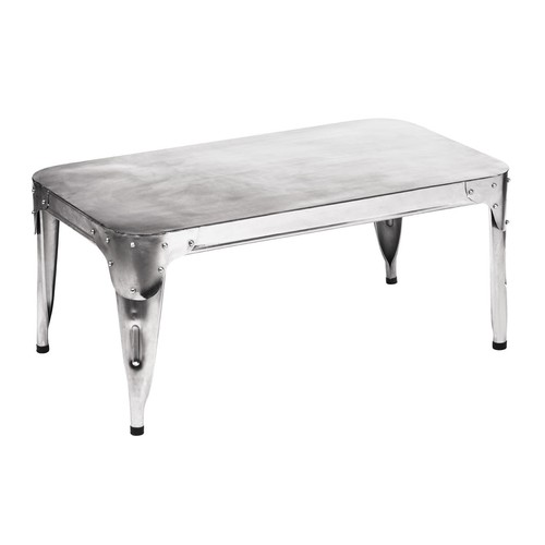 Aviation Rectangular Top Coffee Table With Legs