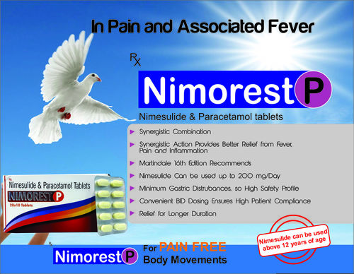 NIMESULIDE 100MG PARACETAMOL 325MG TABLET