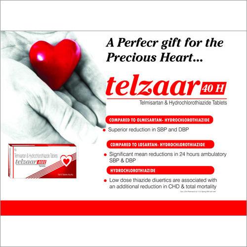 Telmisartan 40 mg. + Hydrochlorothiazide 12.5 mg.