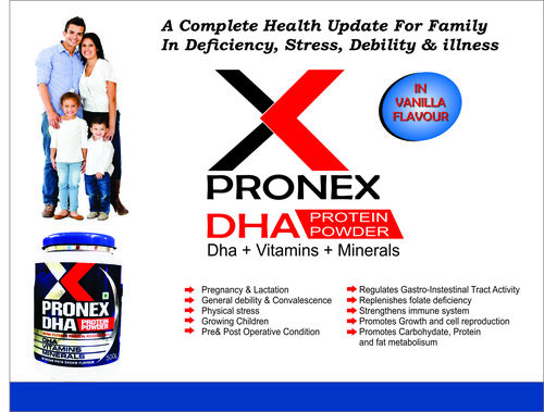 ULTRA FILTERED PROTEIN POWDER WITH DHA VITAMINS MINERALS IN Vanilla FLAVOUR