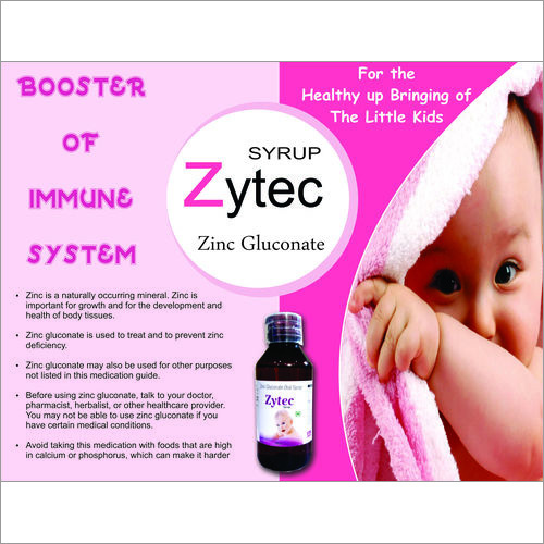 Zinc Gluconate Oral Syrup