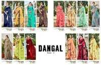 DANGAL Digital Printed Georgette Designer Sarees