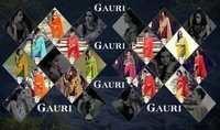 GAURI Spray Printed Georgette Designer Saree
