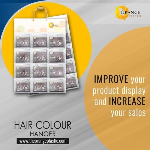 Hair Color Pouch Display Hanger