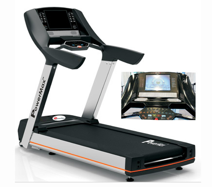 Commercial Tread Mill with Touch Screen TV 6 HP AC