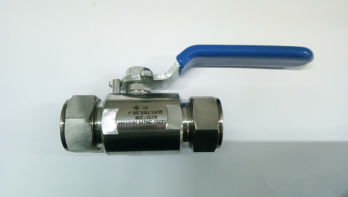 Two Way Ball Valve Single Ferrule Tube Ends