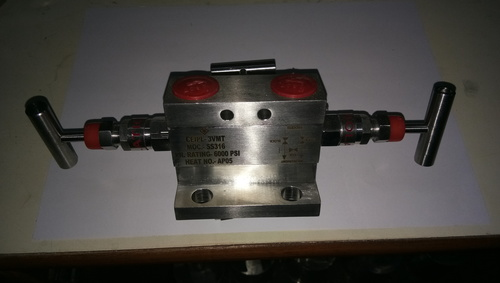 Two Valve T Type Manifold for Pressure Instruments