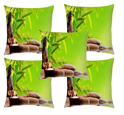 Nature Printed Cushion Cover