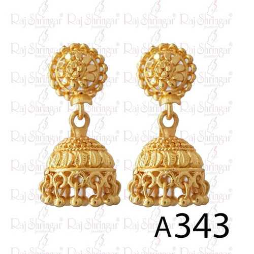 Oval Shaped Earring