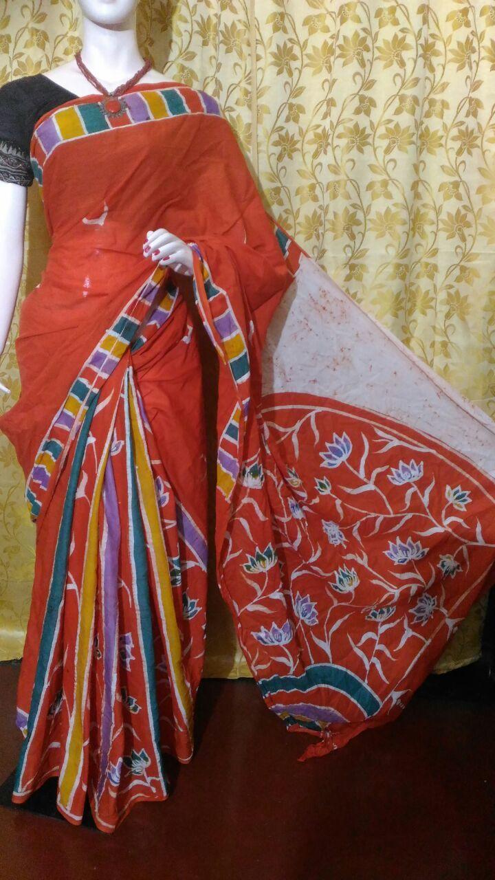 Exclusive Cotton Hand Batik Sarees