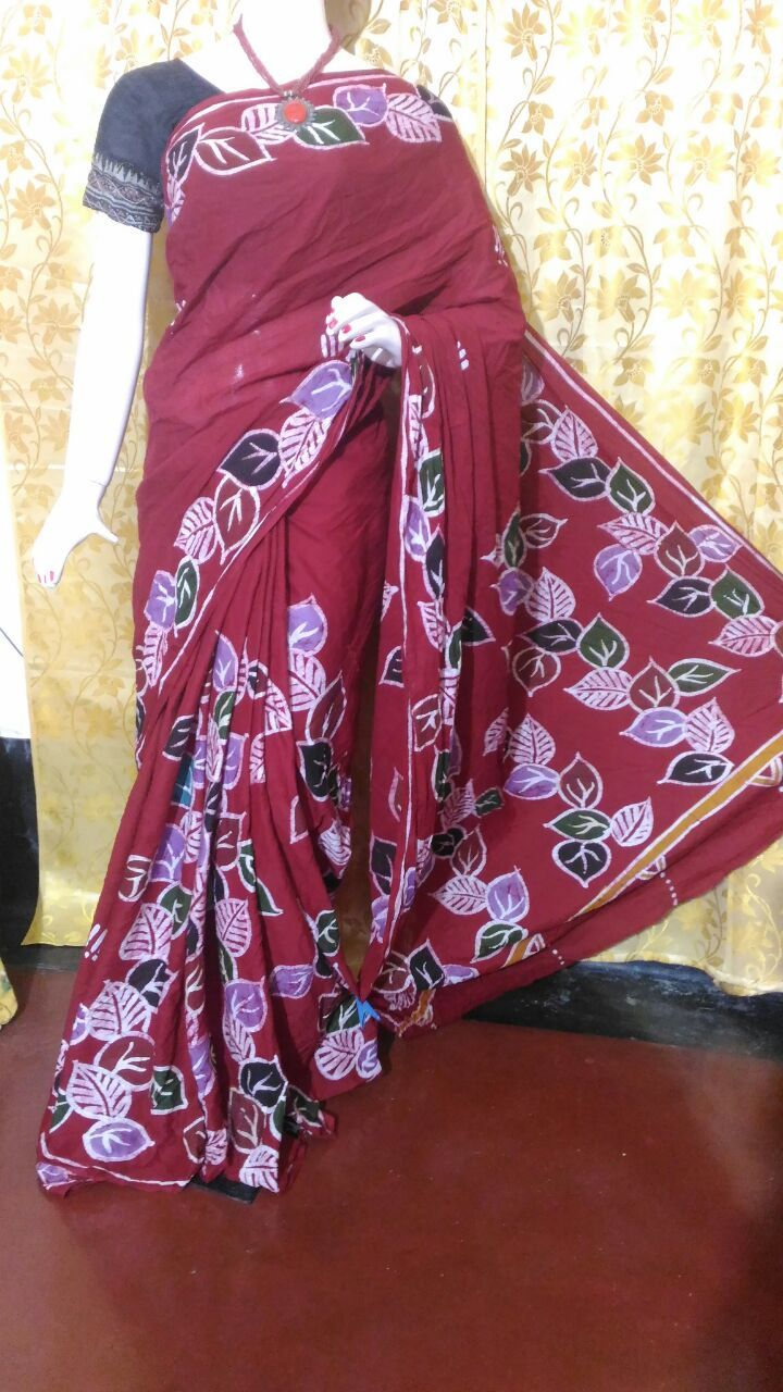 Exclusive Cotton Hand Batik Sarees