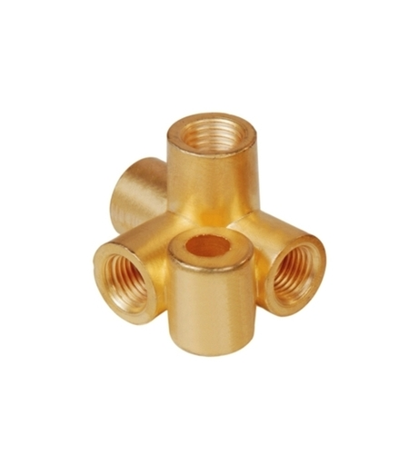 Brass Bracket Tee Connectory 4 Way