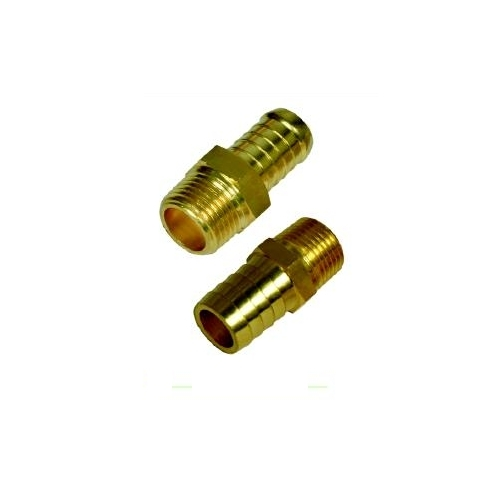 Brass Male Hose Barb End / Connector