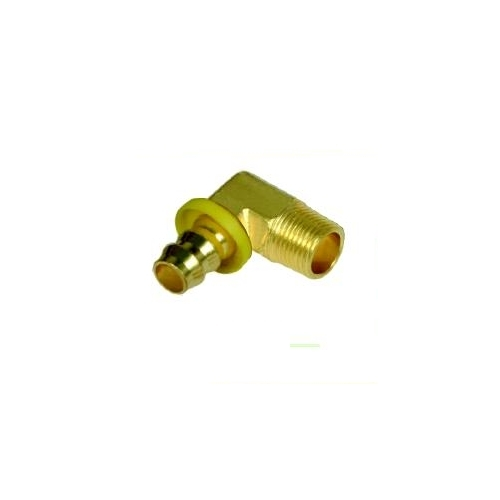 Brass Push On Fitting Male Elbow