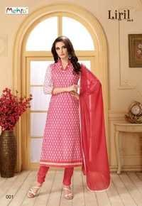 Cotton With Chiffon Dupatta