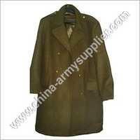 Police Wool Overcoat