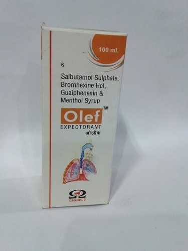 Salbutamol 1 mg+Bromhexine 2 mg+guaiphenesin 50 mg+Menthol 1 mg/5 ml