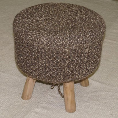 Knitted Pouf Application: Home