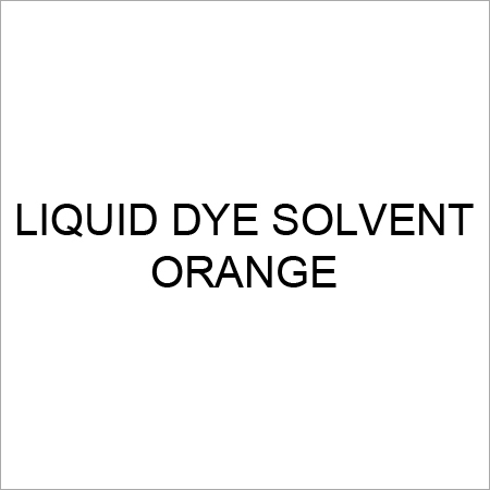 Liquid Dye Solvent Orange