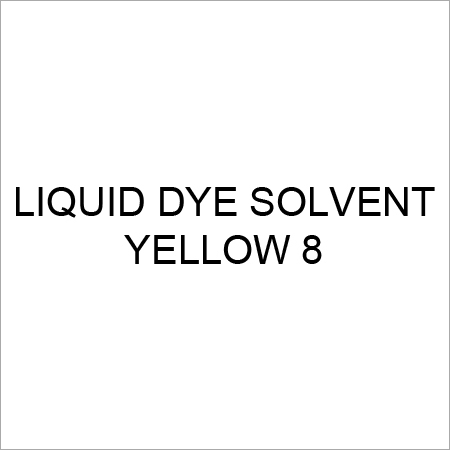 Liquid Dye Solvent Yellow 8