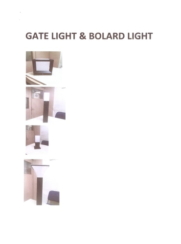 GATE & BOLARD LIGHT.