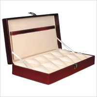 Hard Craft Watch Box Case PU Leather for 12 Watch Slots - Maroon