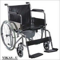 Commode Wheel Chair U Cut