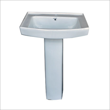 Ceramic Square Pedestal Wash Basin