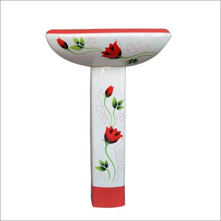 Designer Printed Pedestal Wash Basin