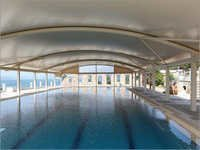 Swimming Pool Tensile Coverings Shed